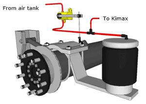Trailer axle suspension for Kimax